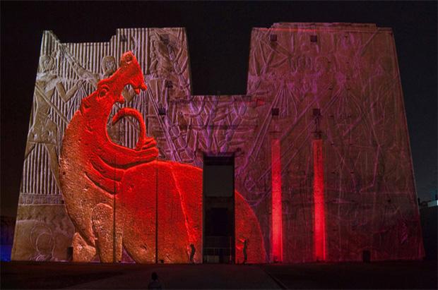 Luz & sonido en el Templo de Filé